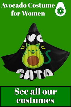 Bored of the same old costume that everyone wear during disguised parties? Check out our large range of avocado costumes, in which there is this this avocado costume for women! Specially made for avocado lovers and their friends, this cape is super comfortable and made with quality materials! Avocado Costume, A Funny, Costumes For Women, Cape, Parties, Lovers, Friends, Check, How To Wear