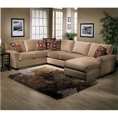 L shaped sectional with chaise Beck's furniture