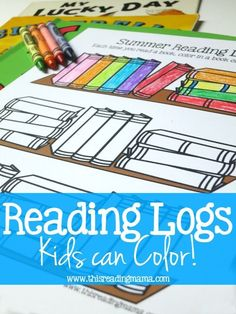 FREE Reading Log Kids Can Color ~ 30 books included on printable log ~ great for summer reading!