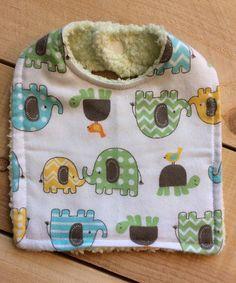 Look at this #zulilyfind! White & Green Elephant & Turtle Bib by Lollypop Ink #zulilyfinds