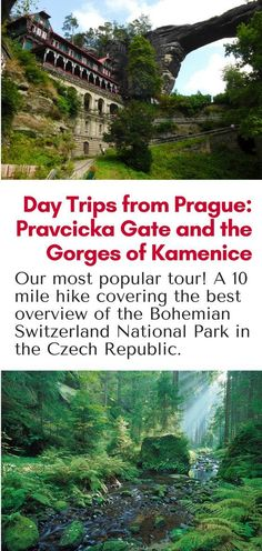 Day Trip from Prague: Hiking in the Bohemian Switzerland National Park in northern Czech Republic. This 10 mile hike is our most popular tour! Click here for more info! #hiking #prague