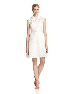 Mikael Aghal Eyelet Fit & Flare Dress