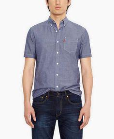 Classic One Pocket Shirt - Indigo Crinkled Chambray - Levi's - levi.com