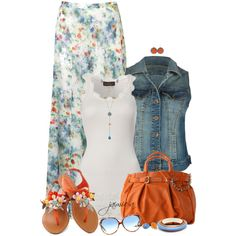 Beachy Floral Maxi Skirt