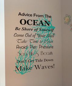 Ocean Vinyl Wall Decal Decor Nautical Decor Beach Quotes - Wall decals beach quotes