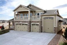 Tandem Garage Plans | Tandem Garage Plan with Workshop, RV Bay and ...