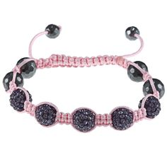 La Preciosa Children's Crystal and Hematite Bead Macrame Bracelet
