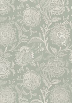RIVERA EMBROIDERY, Cream on Seaglass, W713018, Collection Monterey from Thibaut