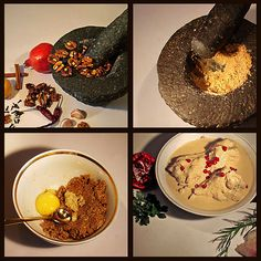 Georgian Food!!Satsivi, a Georgian sauce made of walnuts and served cold ,either as a dipping sauce for bread or sauce for boiled chicken. I have this on my Christmas table,every year!Love it!