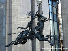 Belgium, Brussels – within the EU complex of buildings – the woman rides the beast as in the Apostle John's vision – in Greek mythology Zeus the bull rapes Europa the woman – the message is clear – EUROPE IS BEING RAPED.