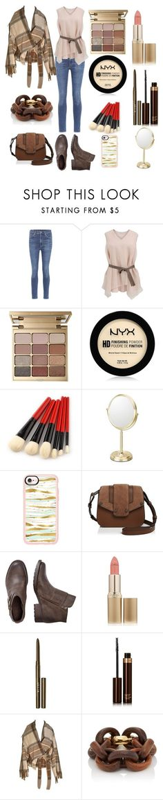 """Friday's look 12/1/17"" by feralkind ❤ liked on Polyvore featuring Citizens of Humanity, Brunello Cucinelli, Stila, NYX, Mirror Image Home, Casetify, Mackage, L'Oréal Paris, Tom Ford and Alexander McQueen"