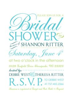 Bridal Shower Invitations!