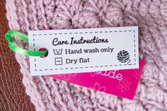 Free Download: Laundry Care Labels | She's Crafty