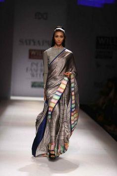 Stunning metallic saree.
