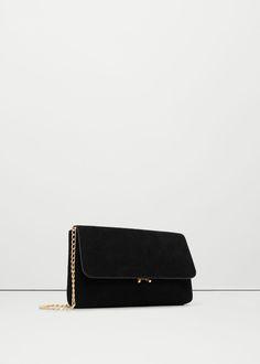Chain leather bag | MANGO