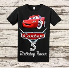 Cars Birthday Shirt - Disney Cars Birthday Shirt - Black by BellaFashionDesignz on Etsy https://www.etsy.com/listing/238808801/cars-birthday-shirt-disney-cars-birthday
