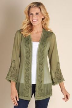 Women's Kyra Topper - Scalloped Lace Top, Toppers, Clothing | Soft Surroundings