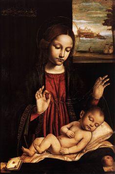 Virgin of the Veil Madonna del Velo Ambrogio Bergognone 1500 Pinacoteca di Brera Milan