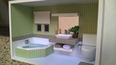 Quadro cenário de banheiro com hidro