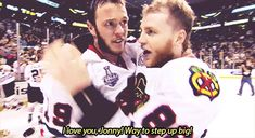 Jonathan Toews and Patrick Kane celebrating their 2013 Stanley Cup Championship, part 2 (Audio)