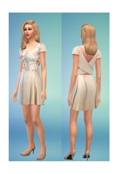 Sims 4 Updates: Diana dress at In a bad Romance