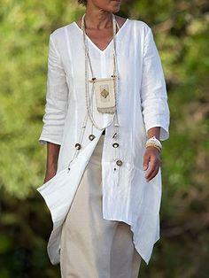 Casual Sleeve Side Slit Shirt Plus Size Blouse Plus Size Casual, Plus Size Outfits, Types Of Sleeves, Dresses With Sleeves, Sleeve Dresses, Maxi Dresses, Lounge Dresses, Hippie Dresses, Ivory Dresses