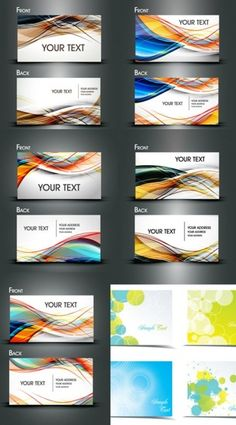 dynamic flow line business card template