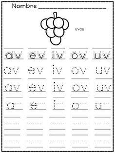 Silabas finales - silabas cerradas - Spanish Kindergarten - Spanish Syllables - Spanish Kindergarten - Recurso en espanol para letras inversas.