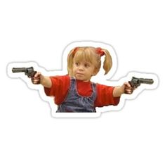 Stickers Discover michelle tanner guns Sticker by pgracew Stickers Cool, Bubble Stickers, Funny Stickers, Printable Stickers, Laptop Stickers, Homemade Stickers, Wallpaper Stickers, Snapchat Stickers, Cute Memes