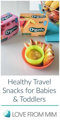 Healthy Travel Snacks for Babies and Toddlers - lovefrommim.com Love from Mim Travel Snacks, Travel, Baby, Baby Snacks, Babies, Toddlers, Toddler Snacks, Baby Travel Snacks, Toddler Travel Snacks, Kids Snacks, Organix, No Junk, Organic Baby, Organic Snacks, Parenting, Parenthood, Motherhood, Food, Baby Food, Toddler Food, What snacks are good for babies, Starting solids, how to start solid foods with your baby, baby led weaning travel snacks, baby led weaning snacks