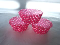 Hot Pink Cupcake wrappers24 by ASweetCelebration on Etsy, $7.00