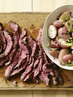 Sliced Steak with German Potato Salad #myplate #beef #healthyfamilydinners