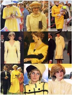 Princess Diana in Yellow.