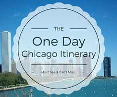 This popular one day in Chicago itinerary includes the must see attractions to visit during your trip. Experience the best of Chicago in a day.
