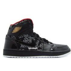 new products bc6eb ab089 Air Jordan 1 High Hall Of Fame Black Varsity Red Wht mtllc gld 371498-012