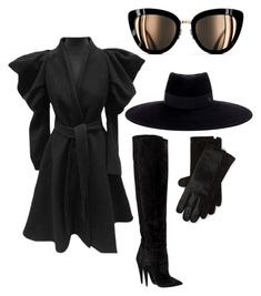 """Untitled #43"" by anacha on Polyvore featuring Alexander McQueen, Maison Michel, Polo Ralph Lauren, Yves Saint Laurent and Chanel"