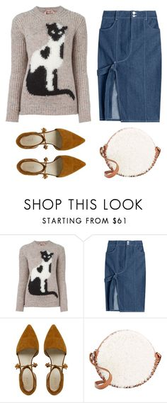 """""""Cat Print Sweater"""" by junglover ❤ liked on Polyvore featuring N°21, Sandy Liang and Paco Rabanne"""