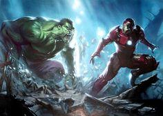 Iron Man Vs. Hulk by Adi Granov