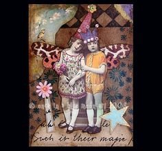 THEIR MAGIC  Altered Art Card Collage ACEO ATC by LisasMenagerie, $5.99