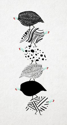 Saved by Leanne Bock (leannebock). Discover more of the best Guinea, Fowl, Le, Illustration, and Pen inspiration on Designspiration Chicken Illustration, Bird Illustration, Illustrations, Guinea Fowl, Bird Quilt, Chicken Art, Pattern Images, Bird Drawings, Art Plastique