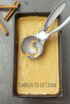 Simply Healthy Family: Pumpkin Pie Ice Cream with Gingersnap Crust Sprinkles
