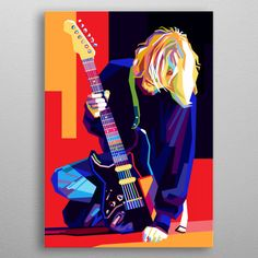 Kurt Cobain by Cholik Hamka Joker Drawings, Cool Art Drawings, Cool Artwork, Kurt Cobain Painting, Kurt Cobain Art, Arte Pop, Nirvana Art, Pop Art Artists, Rock Poster