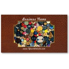 Sewing - Buttons - Bunch of Buttons Business Cards by suburbanscenes