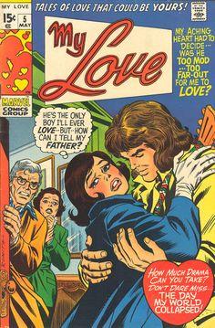 Retro Comic Art | Vintage romance comic, art by Gene Colan, inks ... | vintage comic bo ...