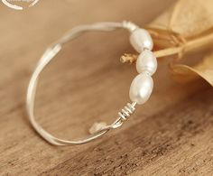 Items similar to sterling silver ring pearl ring on Etsy Pearl Ring, Pearl Necklace, Sterling Silver Rings, Gold Rings, Crystal Flower, Bangles, Bracelets, Pearls, Crystals