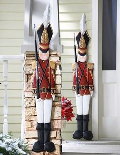 Metal Holiday Tin Soldier Wall Decoration $15