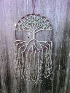 Hemp Tree of Life Dreamcatcher / Large / by Evergreenbohemian