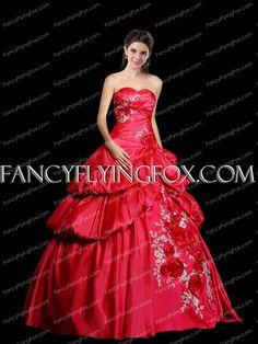 90404d23bf1 Beautiful Asymmetrical Waist Red Quinceanera Dress With Handmade Flowers