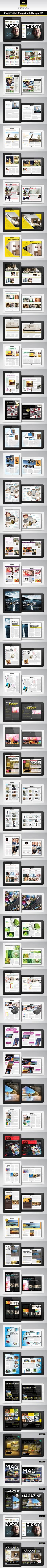 iPad/Tablet Magazine InDesign Layout 02 by BoxedCreative