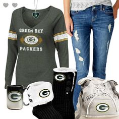 Green Bay Packers Fashion - Cozy Packers Sunday